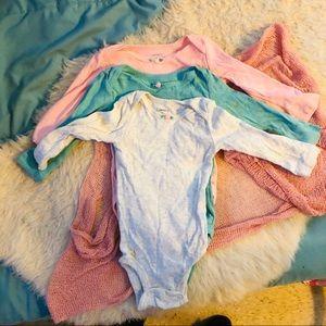 Carters 3 Pack of Long sleeve onesies